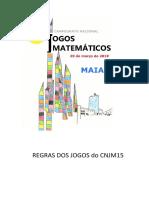 Jogos matemáticos - regras