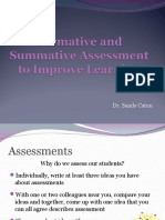 Formative and Summative Assessment to Improve Learning (1)