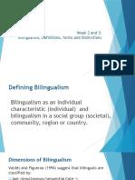 Defining Bilingualism and Bilingual Education