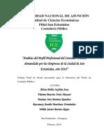 Análisis del Perfil Profesional del Contador Público demandado por las Empresas de la ciudad de San Estanislao, año 2018