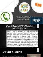 Berlo's SMCR Model of Communication