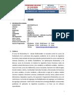 Cálculo Multivariable - Matematica 3 - Sílabo - UNIFIEECS - 2019 - 2 NUEVO
