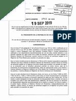 Decreto 1719 Del 19 de Septiembre de 2019