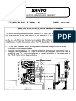 Sanyo Tb40 Dcd40 Power Transformer Bulletin