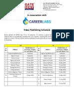 SmartGATE Schedule