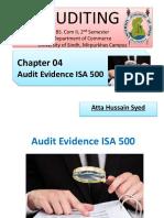 Lec 4 Audit Evidence