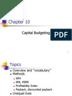 Cap Budgeting