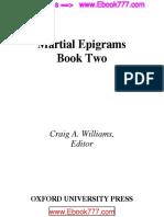 Epigramas Marciales Libro Dos Por Craig a. Williams, Editor