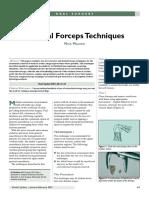 Surgical Forcep Techniques