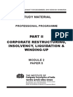 Corporate Restructuring Insolvency Liquidation