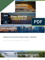 Tesouro Direto - Apresentação PAF 2019 e RAD 2018