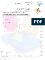 Selectividad 2o15-2o18 Matrices Determinantes Ccss