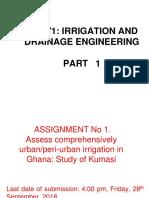 1 BSc Iriigation Engineering 2018 19 Std1