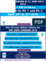Attachment RBI-NABARD-SEBI 2019 GA ESI in News 15th to 21st April Pptx Lyst3772