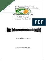 Notions Des Phenomenes de Transfert 3