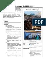 Protestas en Nicaragua de 2018-2019