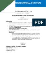 Modificaciones Futsal 2018