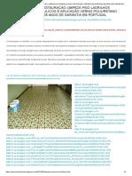 Restauração Limpeza Piso Ladrilhos Hidraulicos e Aplicação Verniz Poliuretano 05 Anos de Garantia Em Portugal