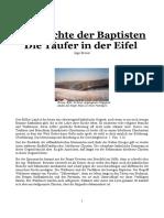 Die Geschichte der Täufer in der Eifel
