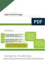 Solar & Wind Energy - Prospect in India