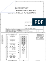 220kV Control Panel Drawing