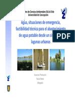 Protocolo de Operaciones en Caso de Emergencia Para El Abastecimiento de Agua Potable Desde Un Sistema de Lagunas Urbanas