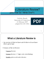 What is a Lit Review (1)