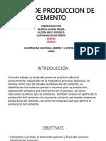 produccion del cemento