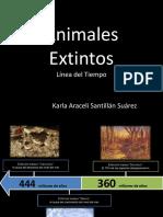 animales extintos en linea de tiempo