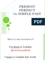 Present Perfect vs Simple Past Power Point