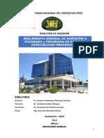 Reglamento General de Posgrado y Segunda Especialización