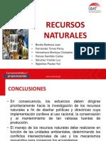 RECURSOS NATURALES CONCLUSIONES