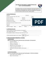 Ficha de Recojo de Datos y Expectativas de Las y Los Estudiantes