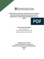 Indice de Calidad de Aguas Para Cuencas Rurales de Montaña. Carlosuribegarcia2019
