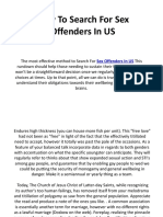 How to Search for Sex Offenders in US