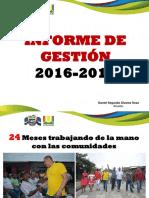 Informe Gestion 2016 -2017 Daniel Alvares