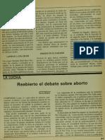 Reabierto El Debate Sobre Aborto