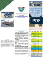 PROGRAMA DE ACTIVIDADES  POR EL XXXVI ANIVERSARIO DE LA IE ALEXANDER VON HUMBOLDT, KM 86