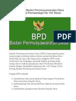 Tugas Utama Badan Permusyawaratan Desa (BPD) Menurut Permendagri No 110 Tahun 2016.docx