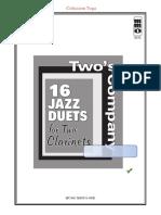 16 Jazz Duets Vol 2 (Clarinet)