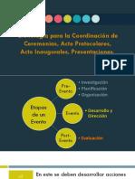 3. Cronología Para La Coordinación de Ceremonias, Actos y Presentaciones