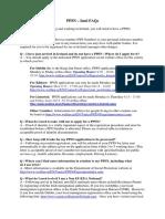 PPSN FAQ Document Updated September 2015