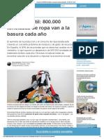 La Ruina Textil_ 800.000 Toneladas de Ropa Van a La Basura Cada Año