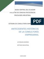 Antecedentes Históricos de La Consultoría Empresarial