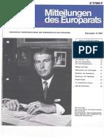 1621-Mitteilungen des Europarats, Novem. 5, 1969 - Der Fall Griechenland