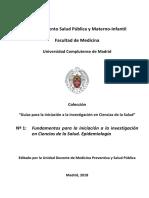 Fundamentos para la iniciación a la investigación en Ciencias de la Salud. Epidemiología