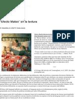"""""""Efecto Mateo"""" en La Lectura _ Hálito de Re-Encuentro"""