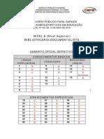 Gabarito Oficial Definitivo - Bibliotecario Documentalista