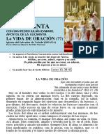 La Vida de Oración (77) HORA SANTA Con San Pedro Julián Eymard.