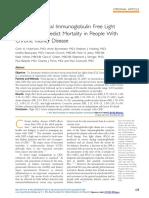 Serum Polyclonal Immunoglobulin Free Light Chain Levels Predict Mortality in People With Chronic Kidney Disease